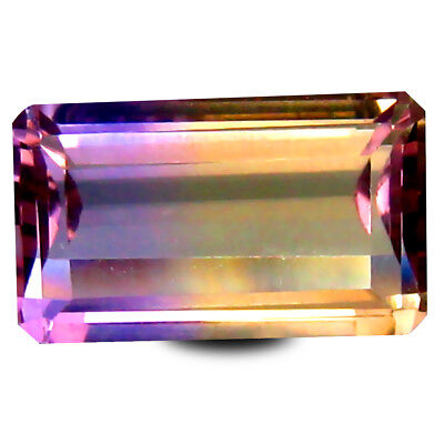 2.82 ct AAA+ Octagon Cut (11 x 7 mm) Purple and Yellow Ametrine Natural Gemstone