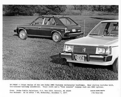 1978 Dodge Omni Factory Photo m2091-YTBHTI