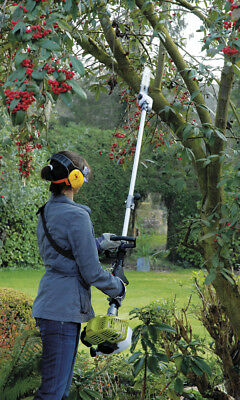 Petrol Hedge Trimmer Long Reach Telescopic Pole 32cc 4in1 Machine by Garden Gear