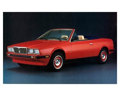 1985 Maserati Spyder Factory Photo m2215-HRQMKF