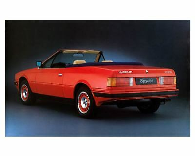 1985 Maserati Spyder Factory Photo m2218-9EVBWN
