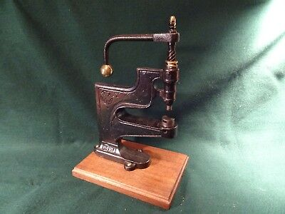 Old French Leather Workers Fly Press.