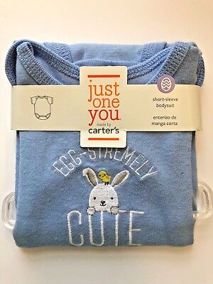 3 M Just One You Carter's Easter egg-stremely cute short-sleeved body suit
