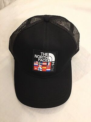 NWT The North Face Unisex Snap Back Hat Village Trucker RU 14 Flag New