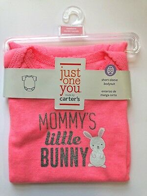 Newborn Just One You Carter's Easter Mommy's bunny short-sleeved bodysuit