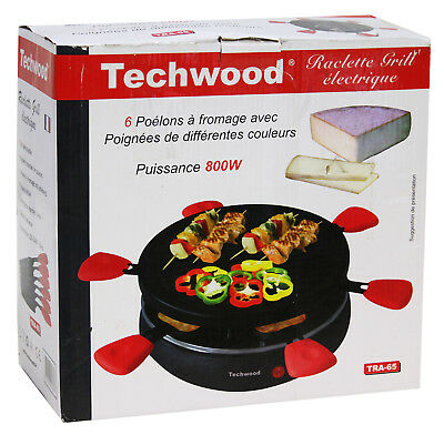 Techwood TRA-65 Raclette Grill 6 Personen Elektro Tisch Grill Partygrill MG198 B