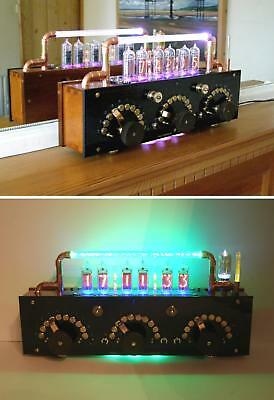 Unique Steampunk Resistance Box Nixie Clock - Comprehensive Lighting Effects.
