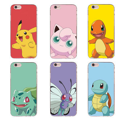 Pokemon TPU phone Case Pikachu pattern Cover For iPhone 6 6s 7 Plus 5 SE