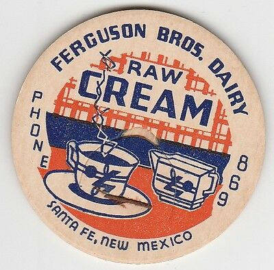 Milk Bottle Cap. Ferguson Bros. Dairy. Santa Fe, Nm.