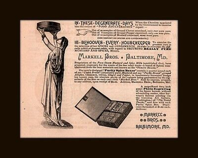 1887A Ad  Markell Spice Box Adulterated Food Degenerate Days