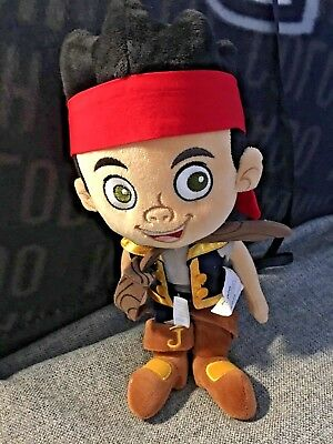 Disney Store Authentic Jake and the Never Land Pirates Plush Doll Toy/ Sword NWT