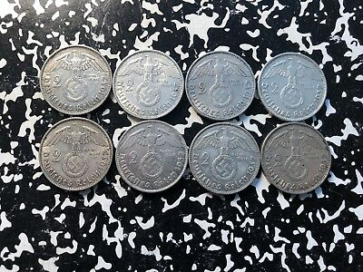 1937-A Germany 2 Mark (8 Available) Circulated (1 Coin Only) Silver!