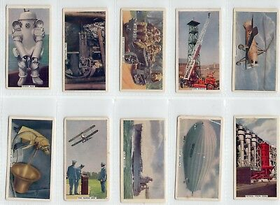 MECHANIZATION: Complete Set of 50 Vintage Technology Cards from 1936