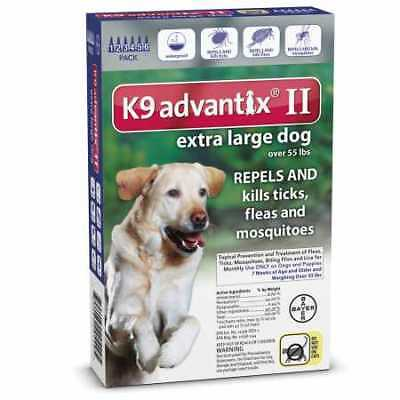 6 MONTH K9 Advantix II BLUE for Extra Large Dogs over 55 lbs