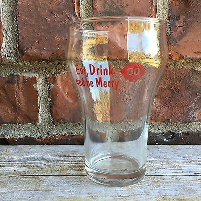 Vintage Dairy Queen Eat Drink and Be Merry Glass Nice Find!