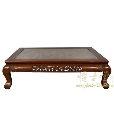 Vintage Chinese Rosewood Massive Carved Coffee Table 18LP54