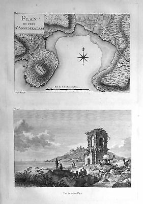 1781 Anaklia Assemkalasi Georgia Ansicht view Karte map antique print Hilair