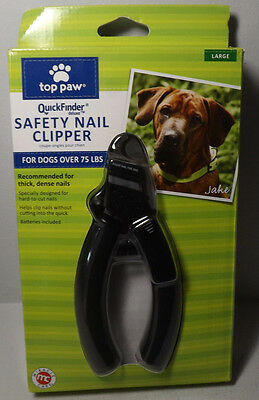 TOP PAW QuickFinder Deluxe Large or Hard Nail Breeds Nail Clipper Quick Finder