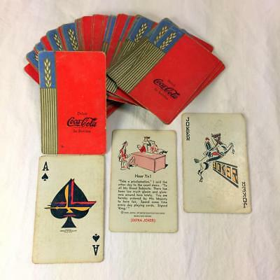 """Original 1939 """"Drink Coca-Cola in Bottles""""  Playing Cards - complete - FAIR cond"""
