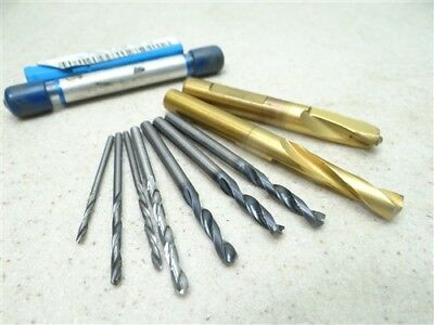 """Lot Of 9 Assorted Solid Carbide Drills 5/64"""" To 8.9Mm Osg Ma Ford"""