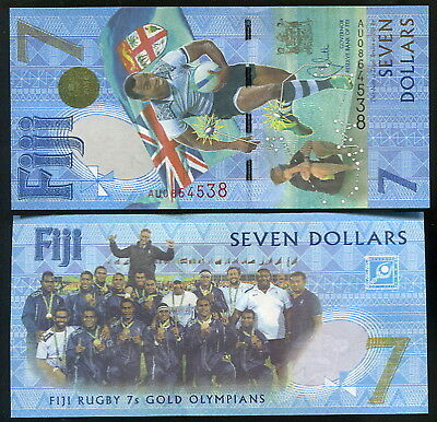 Fiji 2016 (Nd 2017) 7 Dollars Commemorative  Unc