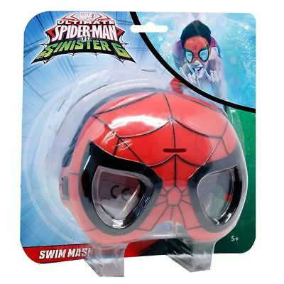 AK Sports Kinder-Taucherbrille Tauchermaske Schwimmbrille Spiderman Rot MK902SP