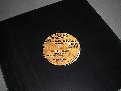"""12"""" Paul Simpson pres. The 1st Take Sessions Vol.1 - EP - 1995 Henry Street"""