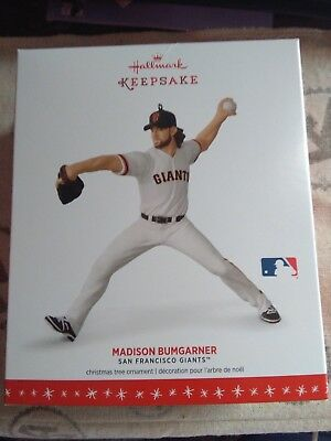 Rare New 2016 Hallmark Madison Bumgarner San Francisco Giants Christmas Ornament