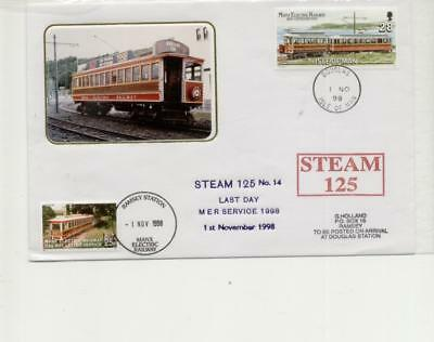 Isle of Man Railway Cover, Last Day of MER service in 1998