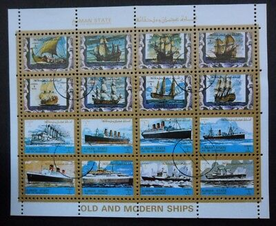 Ajman State alte und moderne Schiffe / old and modern ships gestempelt / used
