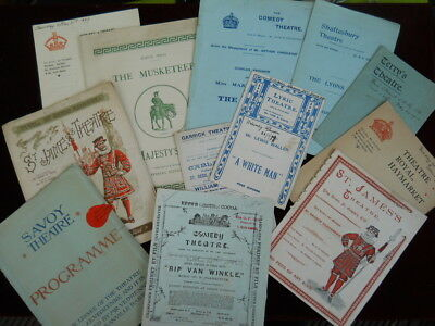 Collection of 12 Victorian / Edwardian Theatre Programmes (All Listed)