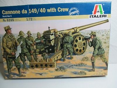 124MB - Italeri 6165 - 1:72 - Bausatz Cannone da 149/40 with Crew - top in OVP