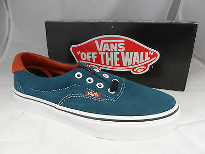 ccaeb6538d9611 VANS ERA 59 Earthtone Suede Indian Teal Plimsolls New EM 753 ...
