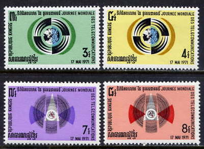 CAMBODIA Sc#255-8 1971 3rd World Telecommunications Day MNH