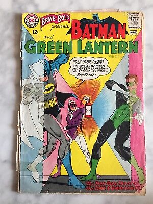 The Brave and the Bold 59 (May 1965, DC Comics) PR to FR Batman Green Lantern