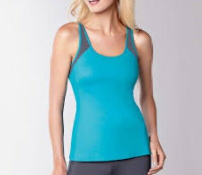 AMOENA TANK TOP COMFORT+ - NWT New Tank Top - TURQUOISE/GREY - SIZE L