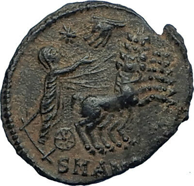 CONSTANTINE I the Great CHARIOT to GOD HAND in HEAVEN Ancient Roman Coin i68040