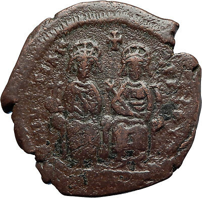 Byzantine (300-1400 Ad) Coins: Ancient Well-Educated Justin Ii And Sophia 565-578 Ad Large K