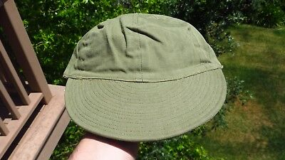 WW2 US Army Military Herringbone Twill Hat HBT Cap Size 7 A-3 Mechanic