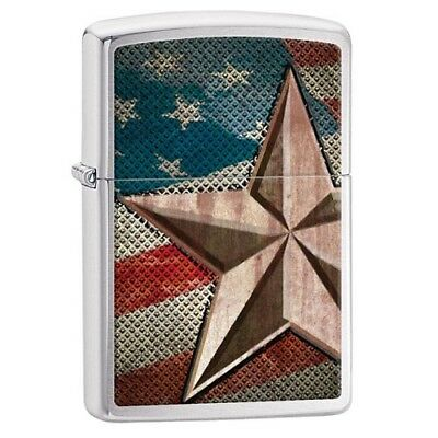 Zippo Retro Star Lighter Brushed Chrome 28653