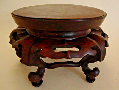 Early 20th century made in China hardwood well carved vase stand