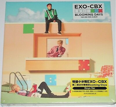 EXO-CBX Blooming Days Days Ver. Taiwan Ltd. 64P Booklet Sticker Card Pin Set#999