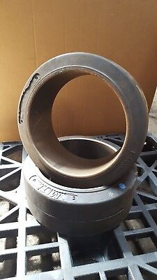 15x6x11-1/4 (2 tires) Forklift Rubber Press on Tire Smooth Electric 15x6x11.25