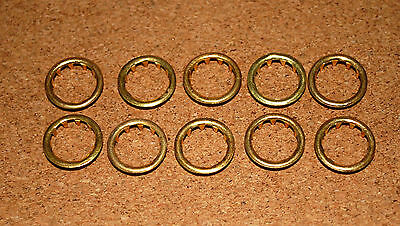 10 BRASS CLOCK FACE / KEYHOLE  GROMMETS. 12mm. FOR 12mm HOLE. FREE POSTAGE!!!