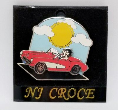 Betty Boop Hat swing pin driving red Chevy Convertable Corvette Licensed GM MIP