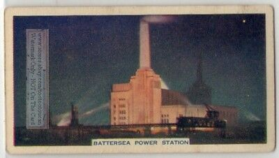Battersea Power Station Coal London England Electricity 80+ Y/O Trade Ad Card