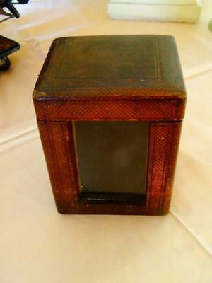 A Charming 19th Century Burgundy Red Carriage Clock Case