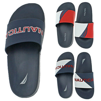 Nautica Men's Stono Rubber Slip On Retro 90s Sailing Pool Slide Sandals