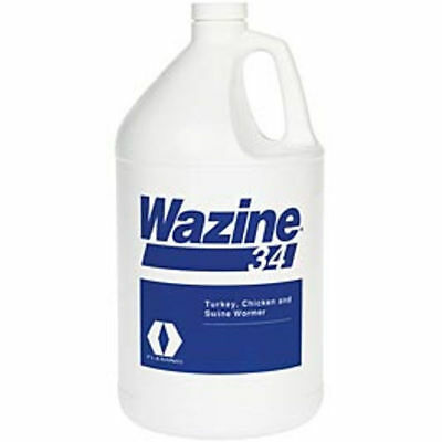 Wazine Piperazine 34% Swine Pig Chicken Turkey Water Wormer DeWormer 1 Gallon