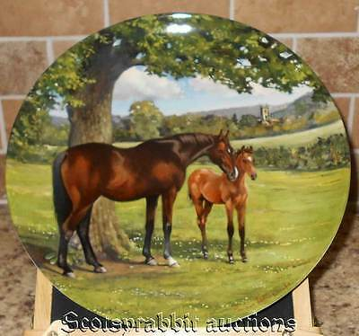 SPODE 1988 ENGLISH THOROUGHBRED HORSE Plate Susie Whitcombe Plate 5771D LE